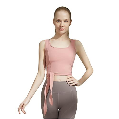 WLEI Sujetadores Deportivos para Mujeres, Brazo de Las señoras, Sujetador, Mediados de Impacto Bras de Mujer Yoga Activewear Sujetadores no cableados para Caminar. Fitness,Rosado,XL