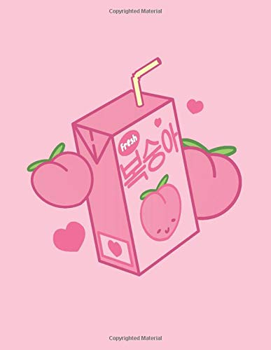 "notebook kawaii Notebook: Cute Peach Juice Notebook Journal Diary | Kawaii Aesthetic Vaporwave | Japan Japanese South Korea Korean | A4 8x11"" | 120 Lined Pages"