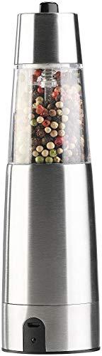 Rosenstein & Söhne Pfeffermühle: Automatische Akku-Gewürzmühle mit Keramik-Mahlwerk, USB-Ladefunktion (Pfeffermühle Akku wiederaufladbar)