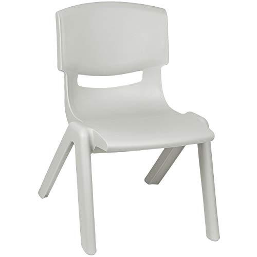 Kinderstuhl / Stuhl - Farbwahl - grau - Silber - Plastik - bis 100 kg belastbar / kippsicher - für INNEN & AUßEN - 0 -...