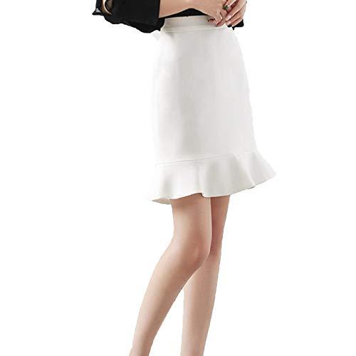 Zomer Dames A-lijn Semi-lengte rok pakket rok modieuze knielange midi rok vrouwen hoge taille plissé flare zwart korte rok