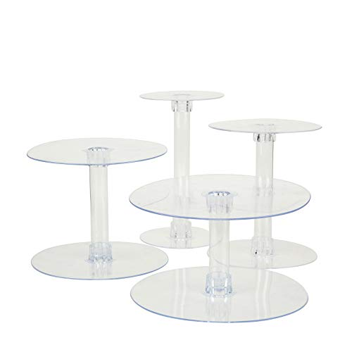 BalsaCircle 4 Tiers Clear 14Inch Round Crystal Acrylic Cupcake Stand  Tiered Dessert Food Serving Tower Birthday Party Wedding