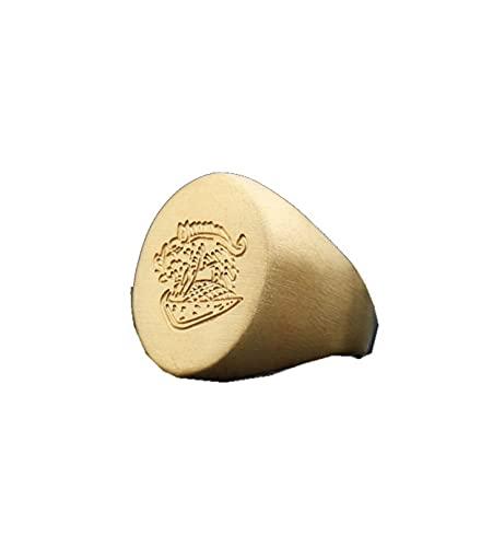 Musulmán Allah Shahada One Anillo de oro de acero inoxidable para hombres Islam árabe Dios Messager Boda pulida aburrida12