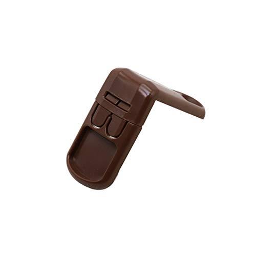 MMI-LX LYRONG - Protector de seguridad en ángulo recto para frigorífico, 1 unidad, color chocolate
