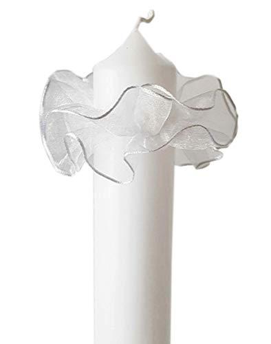 Tropfschutz Weiß für Kerzen mit Durchmesser 3-5 cm/Tropfenfänger Weiß/für Taufkerze oder Kommunionkerze