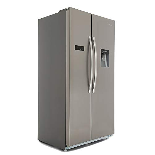 Hisense Side By Side American Fridge Freezer With Water Dispenser Stainless Steel Effect Doors RS723N4WC1_APD