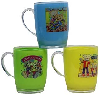 Perpetual Bliss Fancy Durable Milk Mugs for Kids/Shakes/Juices/Coffee/Birthday Return Gifts (Pack of 3)