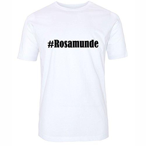 T-Shirt #Rosamunde Größe 4XL Farbe Weiss Druck schwarz