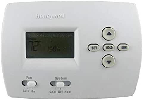 Honeywell TH4110D1007 Programmable Thermostat 20-30 Volt Heat Current 0.02-1.0 Amp Running Cool Current 0.02-1.0 Amp Running White