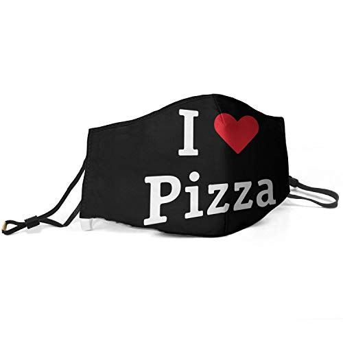 Men Unique Mouth Ma_sk I-Love-Pizza- Anti Dust Washable and Reusable Face Ma_sk