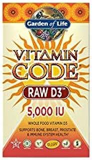 Garden of Life Vitamin Code Raw D3 5,000 IU, 120 or (60x2) Capsules