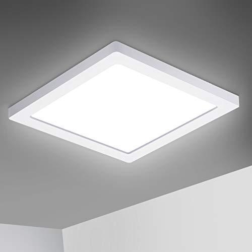 Oeegoo 18W LED Plafoniera a soffitto, 1530lm Plafoniera led sottile per soggiorno Sala da pranzo Camera da letto Bagno Cucina Balcone Corridoio, 4000K