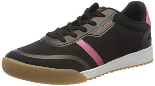 Skechers Zinger 2.0, Zapatillas Mujer, Negro Negro Negro Malla Rosa Fuerte Duraleather Trim BKHP, 38 EU