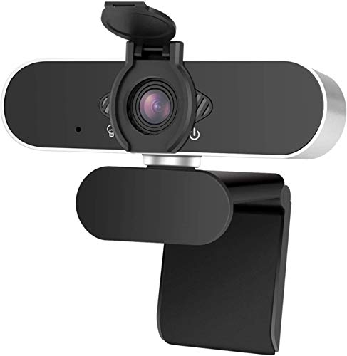 AUHAY USB Webcam with Microphone, 1080P HD Webcam with Privacy Cover,Webcam for PC,MAC, Laptop, Plug and Play Web Camera for Youtube,Video Calling, Studying, Conference, Gaming with Rotatable Clip