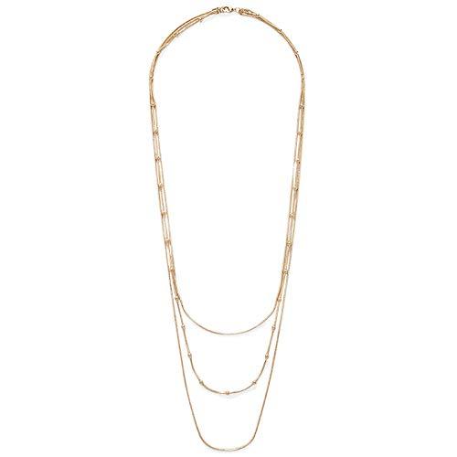 Collar Cadena de cuentas multicapa Elegante Collar redondo con nivel de bola Cadena de suéter Artículo de tendencia