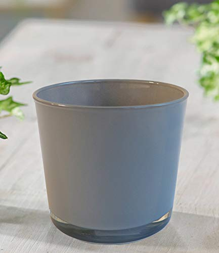 BALDUR-Garten GmbH Glas-Übertopf ø 11 cm grau,1 Stück