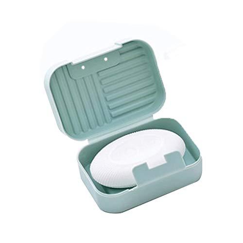 LYPSGZNfeizh Jaboneras baño Caja de jabón, portátil, Lindo, Sellado e Impermeable (Color: Rosa, Verde, Azul, tamaño: 11 * 5 * 7.5cm) (Color : Blue)