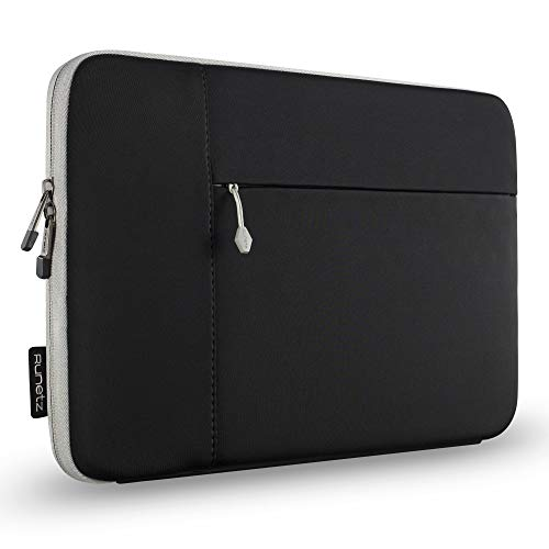 Runetz Sleeve for MacBook Pro 16 inch Sleeve Neoprene 2020 2019 Laptop Sleeve Notebook Cover Bag Case with Accessory Pocket for New 16 inch MacBook Pro, Black