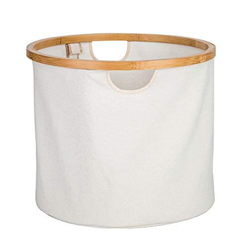 CSMW Laundry basket, dirty laundry basket, collapsible bedroom laundry basket, sundries storage basket White-38 * 26cm
