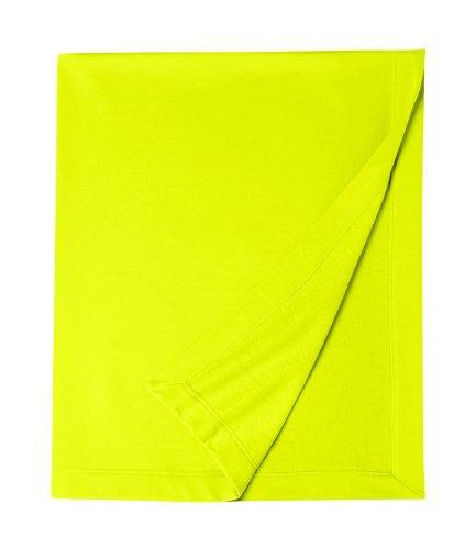 Gildan Unisex Adults Dryblend Fleece Stadium Blanket Safety Green One Siz