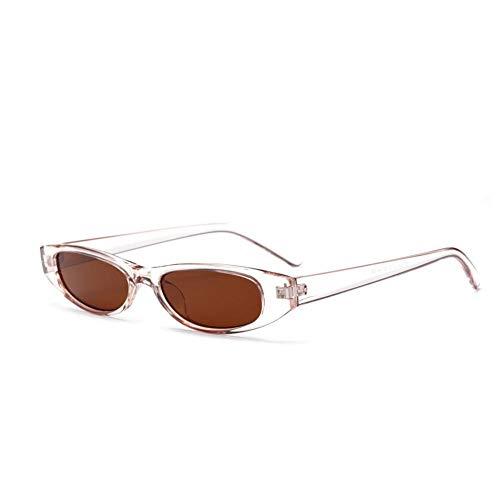 WZYMNTYJ Estate Occhiali da Sole Stretti da Donna Design Vintage Cornice Piccola da Rettangolo Occhiali da Sole Lady Brand Retro Nero Rosso Shades Eyewear