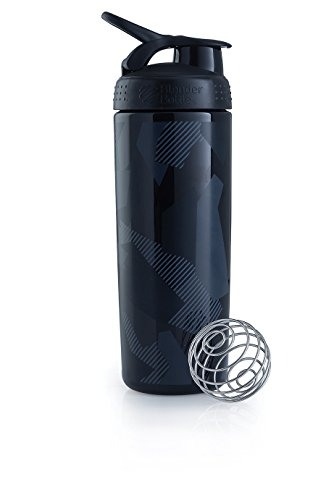 Blender Bottle Signature Sleek - Protéine Shaker / Bouteilled'eau 820ml Noir Shattered Slate