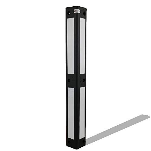 UvV® Reflex Eckwandschutz 90° schwarz retroreflektierende Folie rot, gelb oder weiß (Rammschutz für Stützpfeiler, Hausecken) (Weiß)