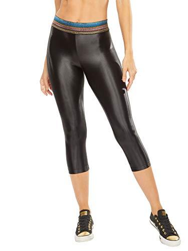 Koral Activewear Damen Capri-Leggings, glänzend - Schwarz - Klein
