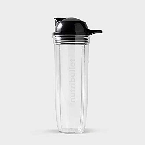 NutriBullet 32 oz Cup with To-Go Lid, Clear/Black