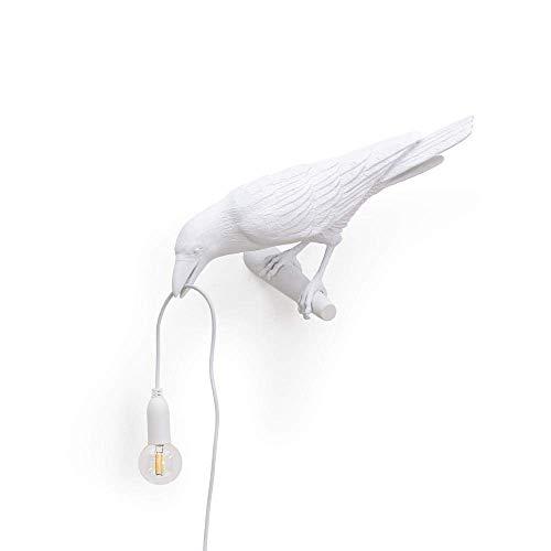 Italienische Seletti Vogel Wandleuchte dekorative Home Vogel Lampe Vogel Wandlampe Tiermöbel Vogel Lichter Seletti Vogel Dekor Home-Looking Bird White
