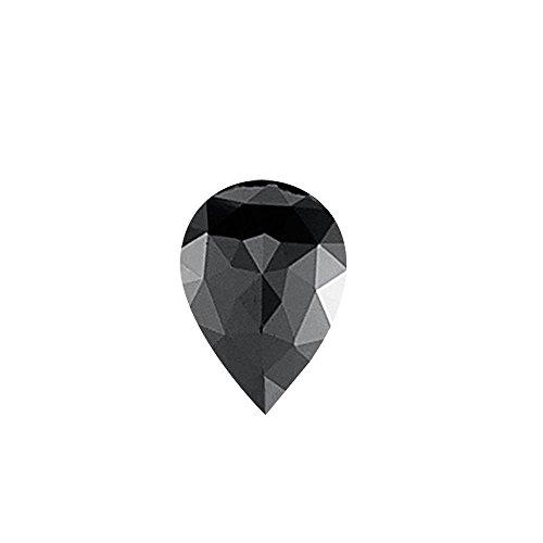 Mysticdrop 2.28 Cts of 10.07x7.31x3.97 mm EGL USA Certified AAA Pear Rose Cut (1 pc) Loose Treated Fancy Black Diamond
