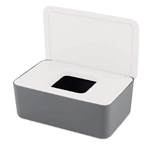 Newin Star Limpie la Caja de almacenaje a Prueba de Polvo de Tejido Caja de Almacenamiento con Tapa Toallitas Titular seco de Tejido húmedo Caso de Papel Titular para la Seguridad del Coche