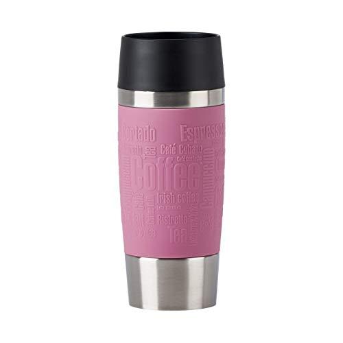 Emsa N20130 Travel Mug Classic Thermo-/Isolierbecher aus Edelstahl | 0,36 Liter | 4h heiß | 8h kalt | BPA-Frei | 100% dicht | auslaufsicher | spülmaschinengeeignet | 360°-Trinköffnung | Altrosa