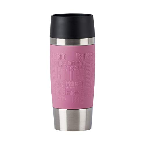 Emsa N20130 Travel Mug Thermo-/Isolierbecher aus Edelstahl | 0,36 Liter | 4h heiß | 8h kalt | BPA-Frei | 100% dicht | auslaufsicher | spülmaschinengeeignet | 360°-Trinköffnung | Altrosa