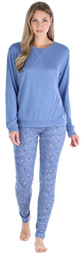 Olivia Rae Women's Long Sleeve Tie Drawstring Top and Legging Pajama Set, Triangles, MED