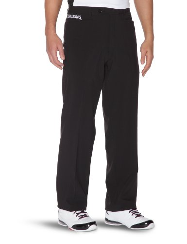 Spalding Mens 300269801_L Pants, Black, L