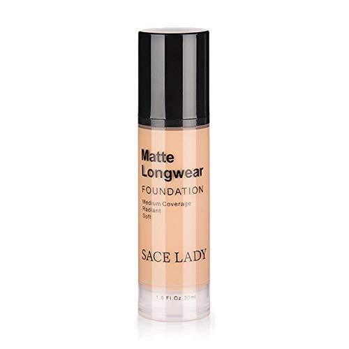 Fond de teint pour le visage, base professionnelle de maquillage 30ml, crème végétalienne pour peau foncée, cosmétique naturel de contrôle de l'huile de crème mate