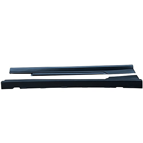 Side Skirts Compatible With 2010-2015 Chevy Chevrolet Camaro, Factory Style Black PP Sideskirt Rocker Moulding Air Dam Chin Diffuser Bumper Lip Splitter by IKON MOTORSPORTS, 2011 2012 2013 2014