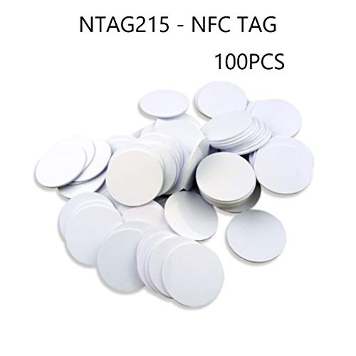 NFC Tags,NXP NTAG 215 Blank PVC NFC Coin Cards,504 Bytes Memory,Fully Compatible with TagMo Amiibo and All NFC Enabled Mobile Phones & Devices-(40Pcs)-30mm(1.18 inch)