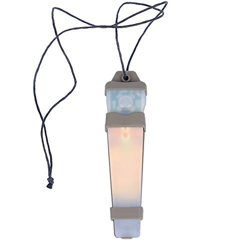 SGOYH Airsoft Tactique Casque Autocollant Magique LED Sécurité Urgence Identification Clignotant Lumière pour Aviron en Plein Air Chasse Randonnée Camping (Orange)
