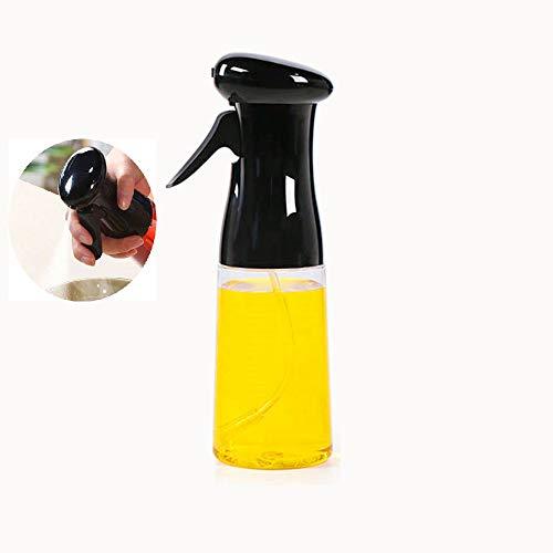 xiaoshenlu Spruzzatore Olio, Oil Sprayer Dispenser Aceto/Olio Spruzzatore Nebulizzatore Olio Cucina in Vetro per BBQ, Insalata, Pane di Cottura, Cucina, Barbecue, 210 ml Nero
