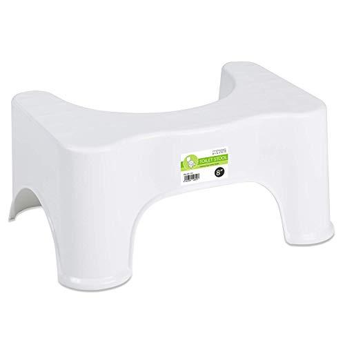 MASS DYNAMIC Hocker/Hocker für Toilettensitz, rutschfest, 20,3 cm, rutschfest, für Badezimmer, Hockerhalter