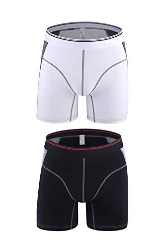 HaiDean 2-delig pak heren modieus casual retroshorts lange moderne pijpen onderbroek mannen Nner boxershorts katoen stretch sport