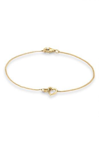 Elli Armband Elli Damen Armband mit Herz Symbol Verschlungen in 925 Sterling Silber