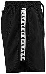 Kappa Authentic Agius Mens Swim Shorts in Black/White/Black