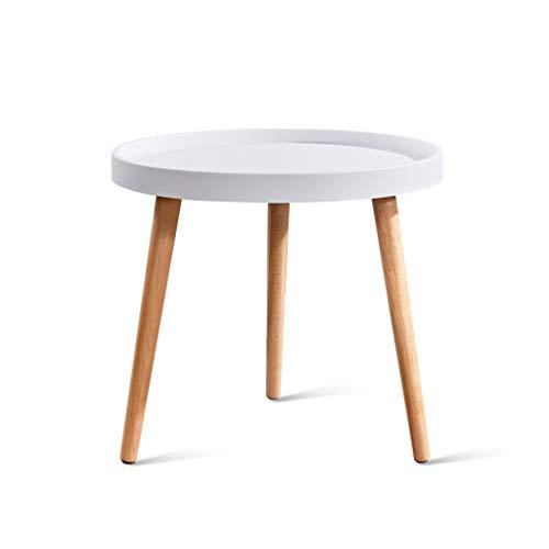 ZIJUAN Nordic Multicolor Table Basse Salon Salle À Manger Canapé De Chevet Rangement Meuble De Rangement Coin -50 * 45cm (Couleur : Blanc)
