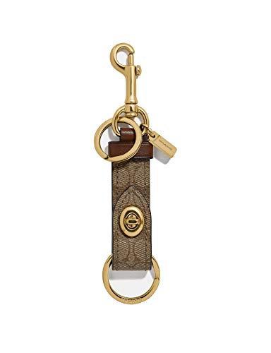 Coach Valet Trigger Snap Bag Charm Key Ring - #F39865 - Khaki