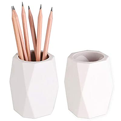 YOSCO Silicone Pencil Holder Geometric Pen Cup for Office Desktop Stationery Organizer Makeup Brush Holder