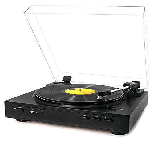 KSDCDF Reproductor de grabación portátil Bluetooth con Altavoces incorporados   Sonido de Audio de Plato Giratorio actualizado