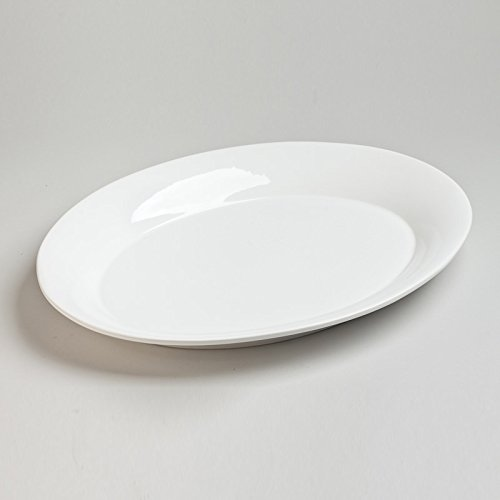 Table Passion - Plate ovale etna blanc 40 x 30 cm